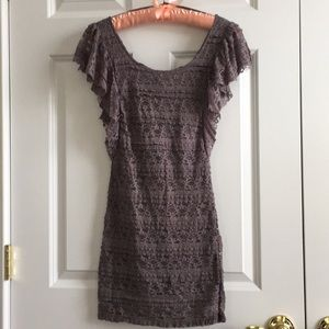 Stretch lace body con dress